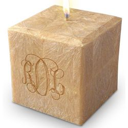 Classic Monogram Palm Wax Candle
