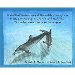 Playful Porpoise III Personalized Art Print