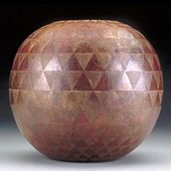 Etched Arrowhead Globe Vase
