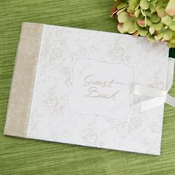 Classic White Floral Guestbook