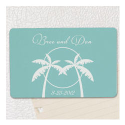 Personalized Palm Tree Magnet Wedding Favor