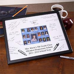 Personalized Class Portrait Signature Mat Frame for Teacher