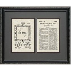Monopoly 16x20 Framed Patent Art