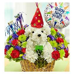 New Year's Party Pup Bouquet