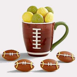 Football Mug with Mini Cookies