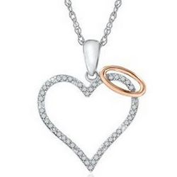 Angel Heart Diamond Pendant
