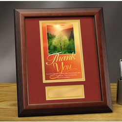 Personalized Thank You Sunrise Framed Award