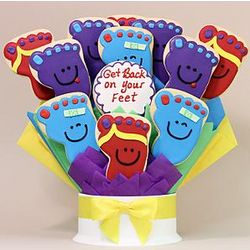 Get Back On Your Feet 12 Cookie Bouquet