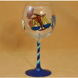 Lawyer Handpainted Glass