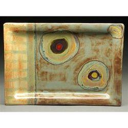 Organic Stripe Rectangular Platter