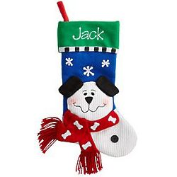 Personalized 3D Dog Snowfamily Stocking
