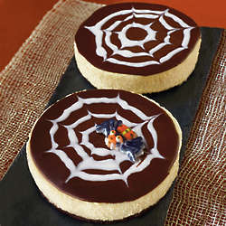 Spiderweb Cheesecakes