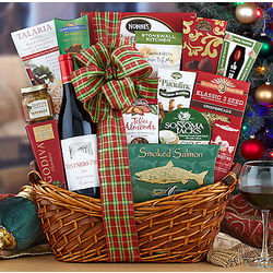 Vintners Path Pinot Noir Season's Greetings Gift Basket