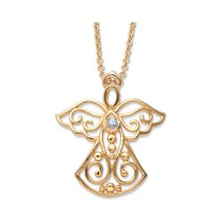 Diamond Accented Angel Neckace