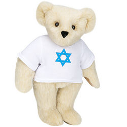 "15"" Star of David T-Shirt Teddy Bear"