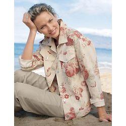 Woman's Floral Jean Jacket