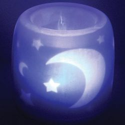 Magic Flame Moon and Stars Night Light Candle