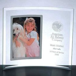 Vertical Jade Glass Picture Frame