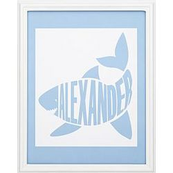 Personalized Shark Baby Name Print