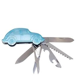 Volkswagen Bug Blue Pocket Knife Multi-Tool