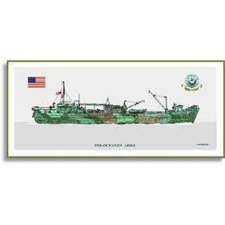USS Oceanus ARB-2 Art Print