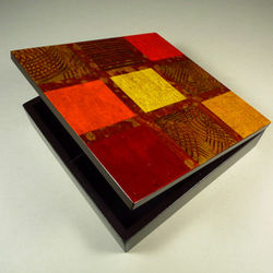 Brazilian Tropical Grid Handpainted Jewelry Box