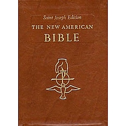 St. Joseph Edition New American Bible in Brown Bonded Leather