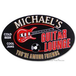 Electric Guitar Lounge Custom Sign