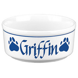 """Personalized 5"""" Cat Bowl"""