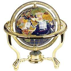 "6"" Diameter Gemstone Globe"
