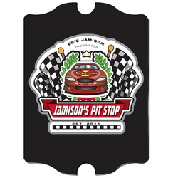 "Personalized Vintage Racing ""Pit-Stop"" Pub Sign"