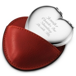Red Compact Mirror Case