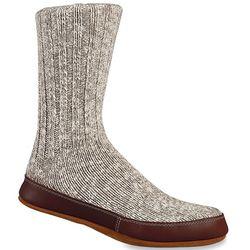 Grey Cotton Twist Slipper Socks