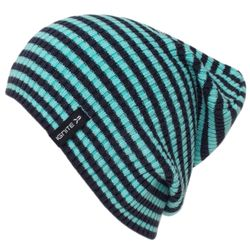 High Top Stripe Pull on Hat