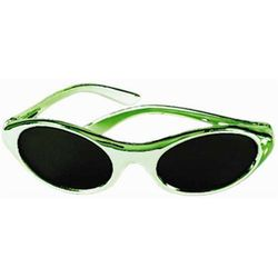 Saint Patrick's Day Green Metallic Sunglasses