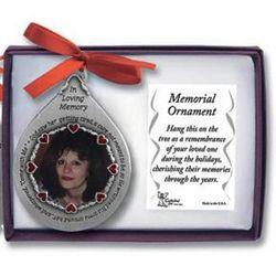 God Saw Her Memorial Photo Ornament