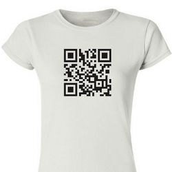 Personalized QR Code Scanner Ladies Fitted T-Shirt