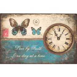 Live by Faith Clock