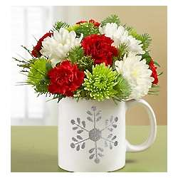 Snowflake Mug Bouquet