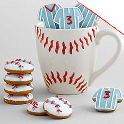 Baseball Mug with Mini Cookies
