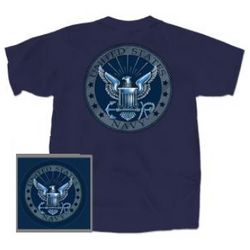 US Navy Silver Logo T-shirt