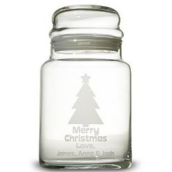 Personalized Christmas Tree Treat Jar