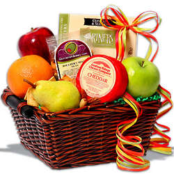 Fruit and Snacks Gift Basket
