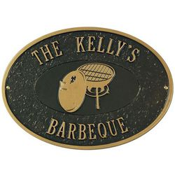 Personalized Barbeque Outdoor Plaque