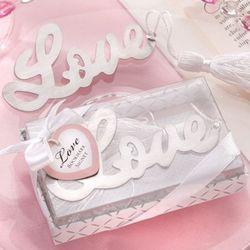 Love Silver Bookmark Favors