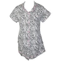 Zebra Striped Short Pajama Set