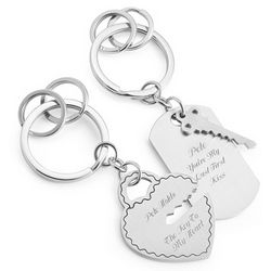 Personalized Key To My Heart Stainless Steel Key Chains