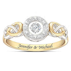 Personalized Diamond Ring with Brilliant Motions Movement