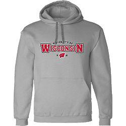 Adult's University of Wisconsin Hooded Sweatshirt in Gray