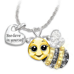 Granddaughter, Always Bee Yourself Crystal Necklace